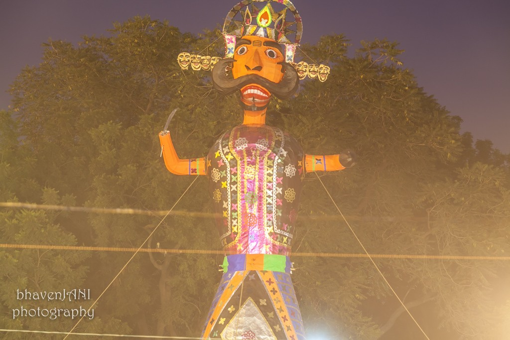 Statue of Ravana, that will soon be burnt on the day of Dussehera