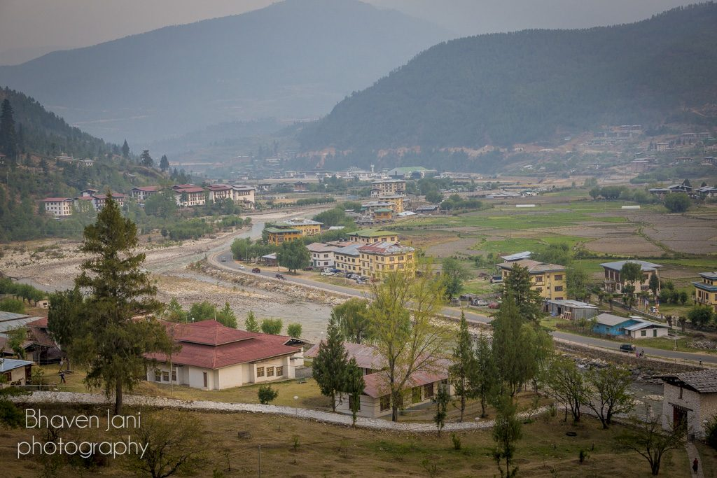 Bhutan musings: View of the Paro valley from Paro Dzong