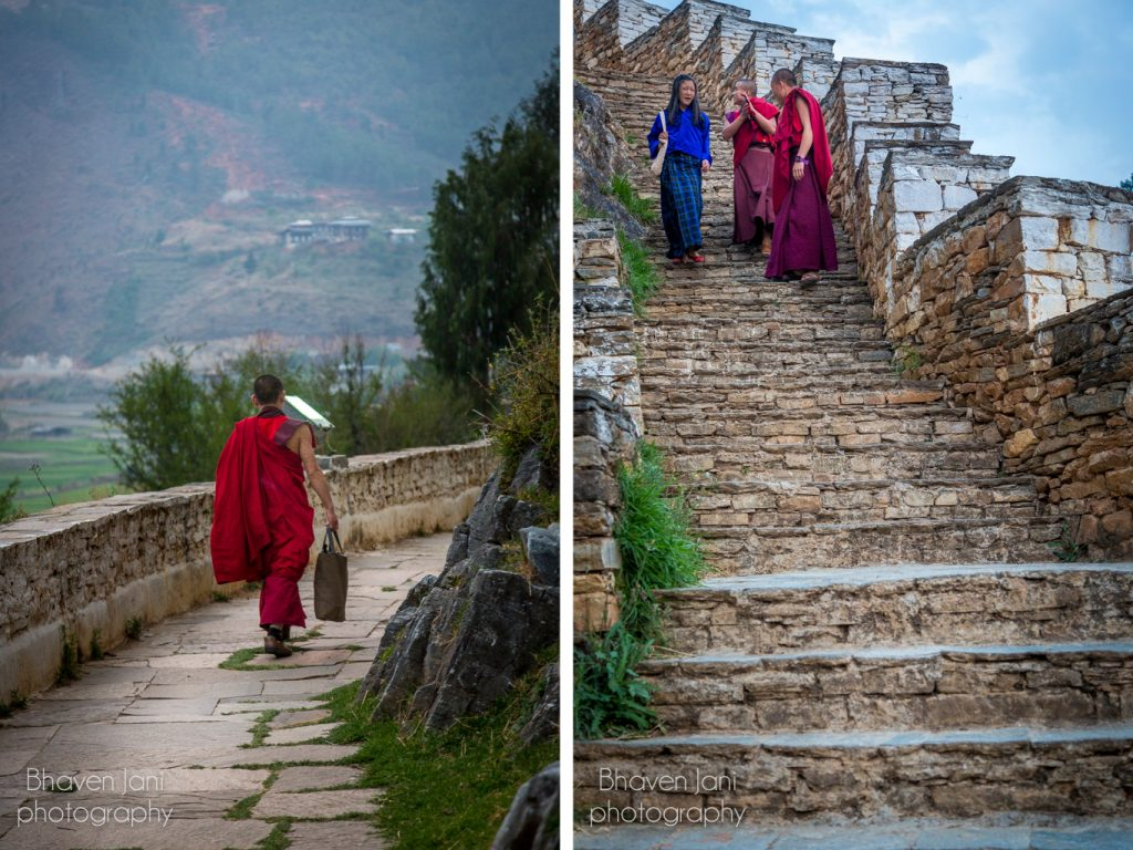 Bhutan musings: Monks at the Paro Dzong