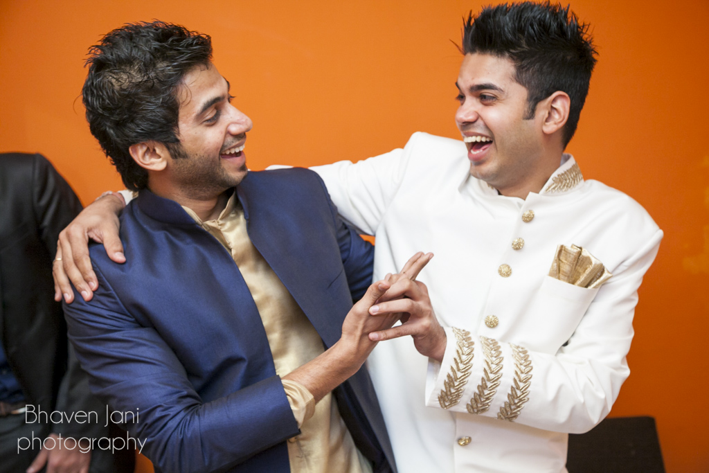 Fun moments between a groom and his brother