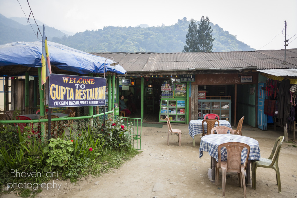 The popular Gupta restaurant in Yuksum, Sikkim