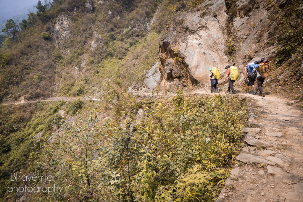 Scenic trail on the route to GoechaLa in Sikkim